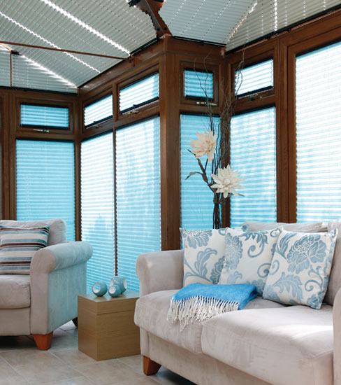 Conservatory Blinds Blue